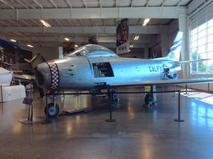 North American F-86 Sabre in Museum Entry Area