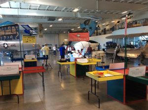 Kids hands-on educational area.