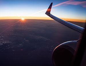 sunset-flight