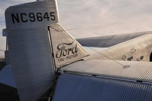 The iconic Ford Trimotor tail.