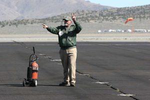 Flying Mechanic Craig indicating start on engine #2