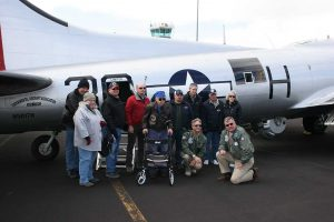 Pilots Tom and Ken with the next group of passengers.