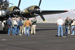 Pilot Ken giving a B-17 history lesson.