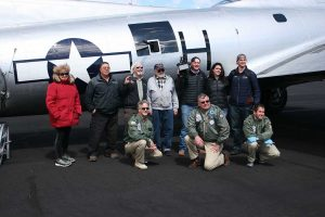 Tom, Ken and Rich with the Media Flight passengers.