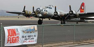EAA B-17 parked at Stead - photo by Gary Shen