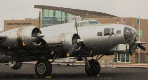 EAA B-17 in front of the Reno-Stead Airport Terminal