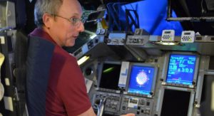 Paul Dye at space shuttle console