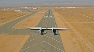 Stratolaunch on runway 30 at Mojave (KMHV).