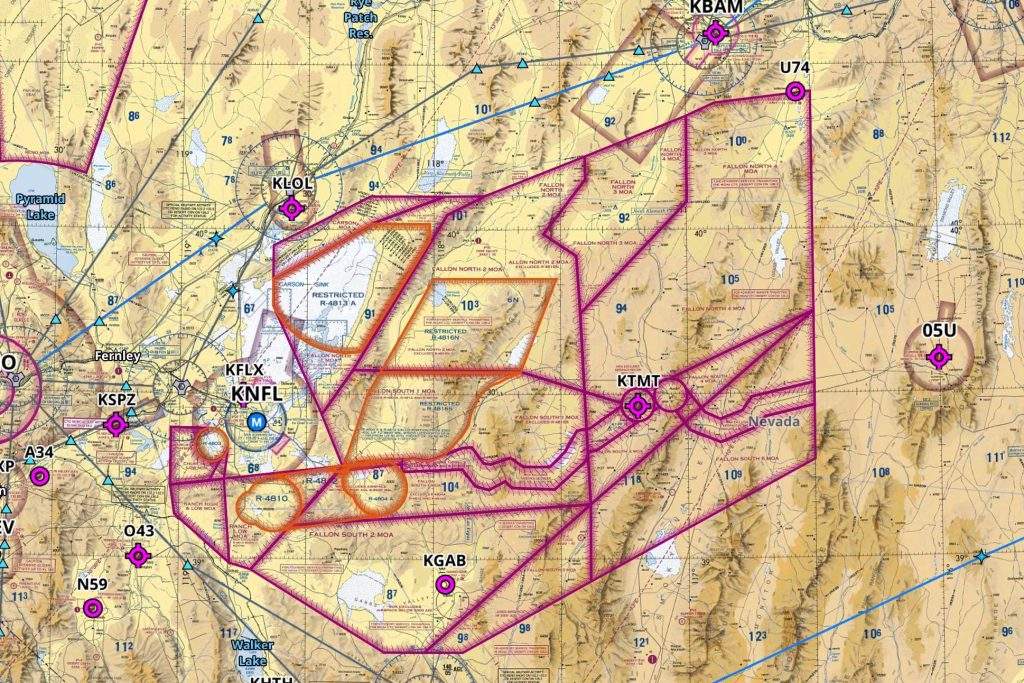 Current NAS Fallon Training Airspace