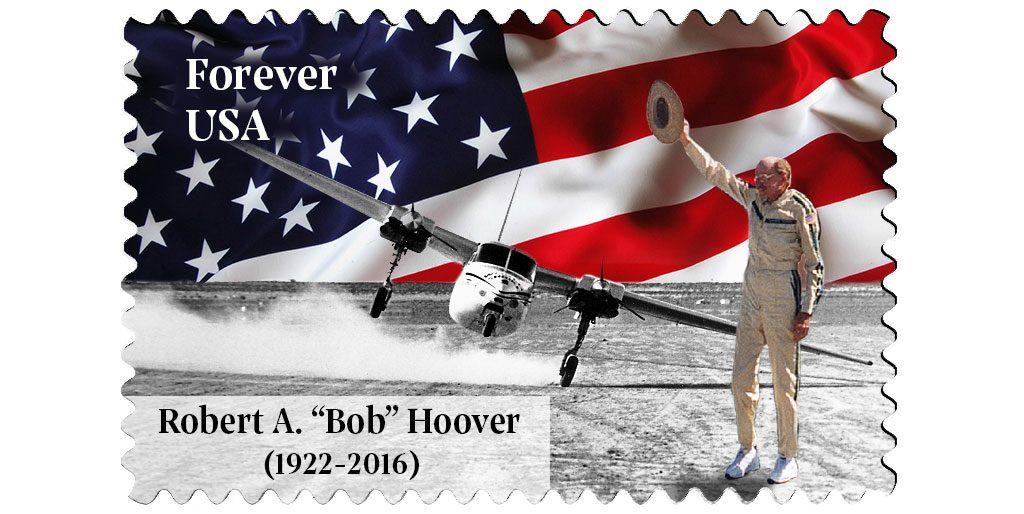U.S. Stamp commemorating Bob Hoover