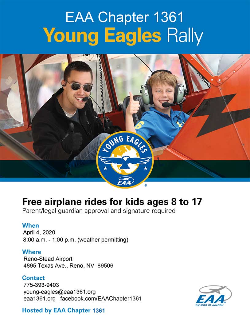 Young Eagles Rally April 4, 2020
