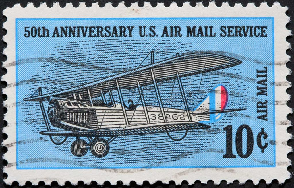 50th Anniversary airmail stamps10cents