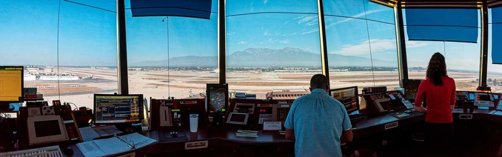 Air Traffic Control Tower in Operation
